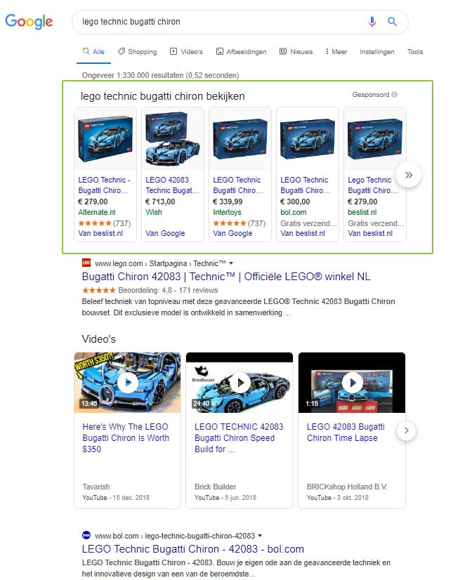 Google Shopping Ads - product advertenties